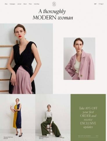 eCommerce website: Isabelle Fox
