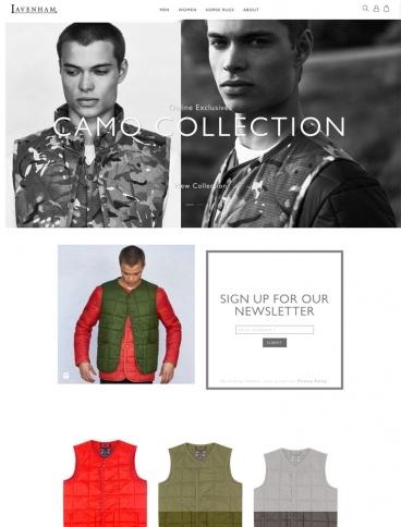 eCommerce website: Lavenham