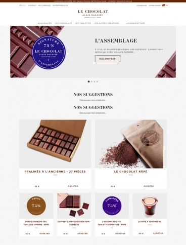 eCommerce website: Le Chocolat Alain Ducasse