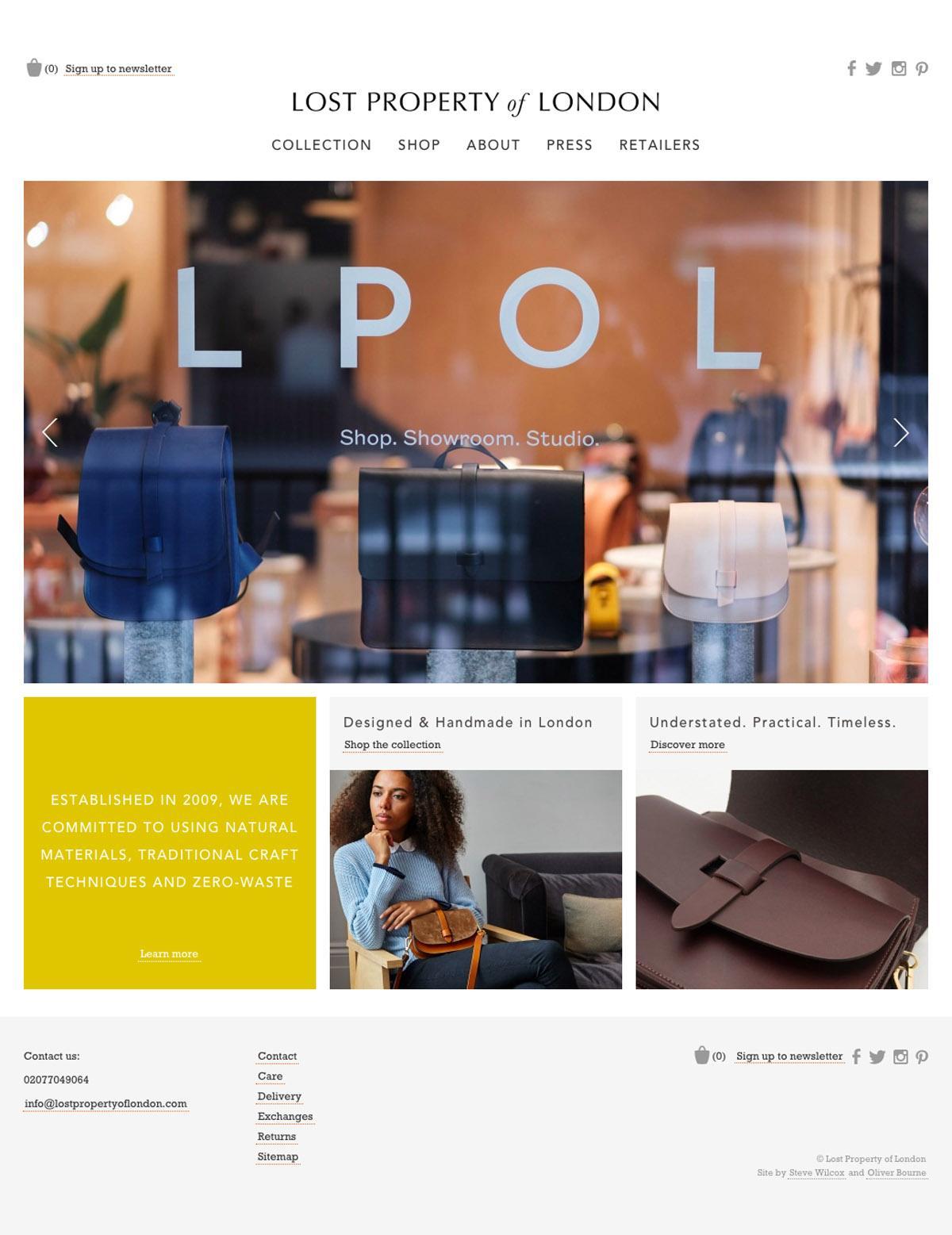 eCommerce website: Lost Property London