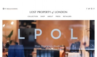 eCommerce website: Lost Property London