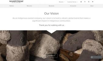 eCommerce website: Manitobah Mukluks