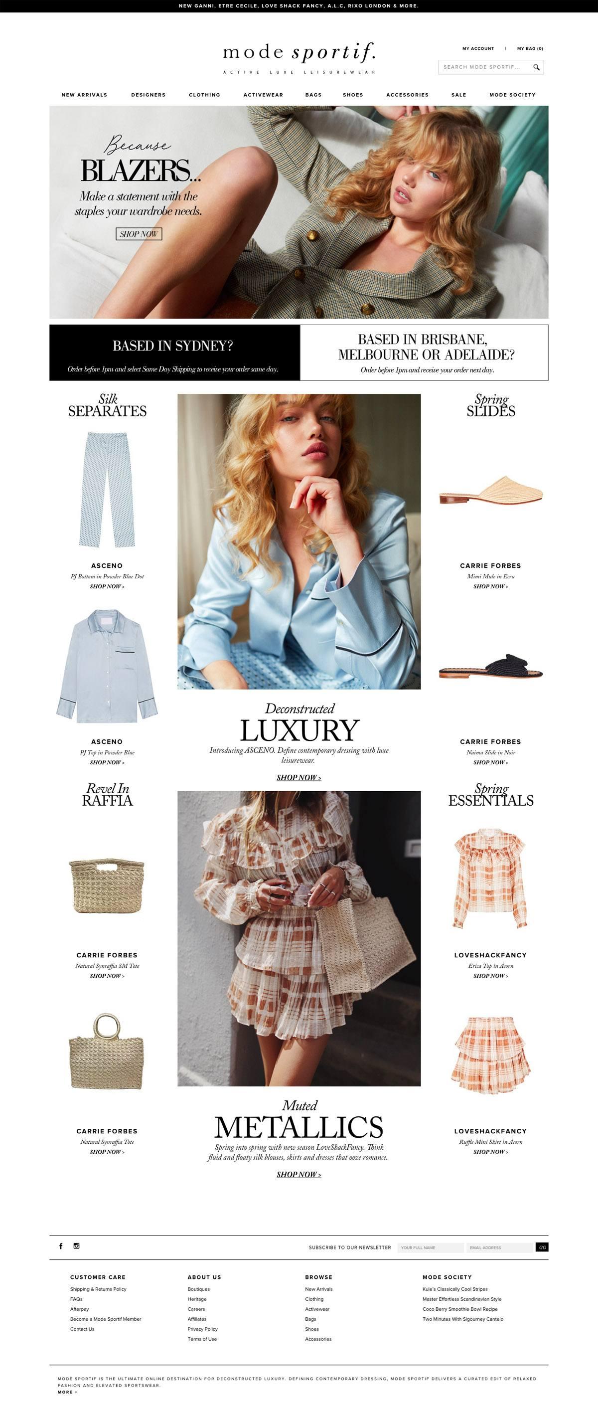 eCommerce website: Mode Sportif