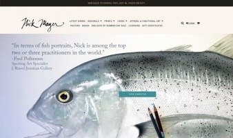 eCommerce website: Nick Mayer Art