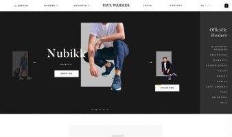 eCommerce website: Paul Warmer