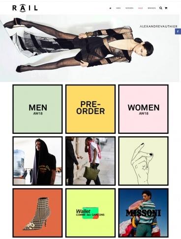 eCommerce website: Rail Store