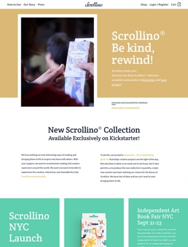 eCommerce website: Scrollino