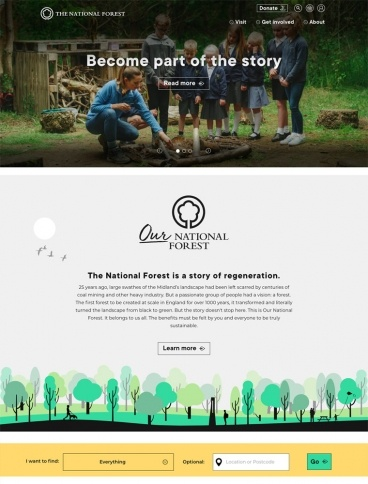 eCommerce website: The National Forest