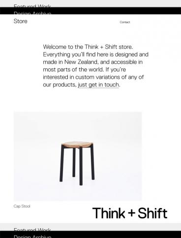 eCommerce website: Think + Shift