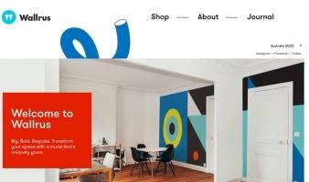 eCommerce website: Wallrus