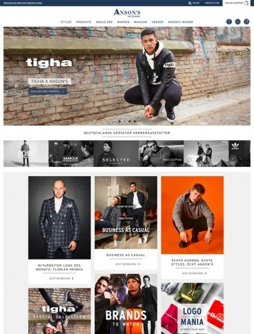 eCommerce website: ANSON´S