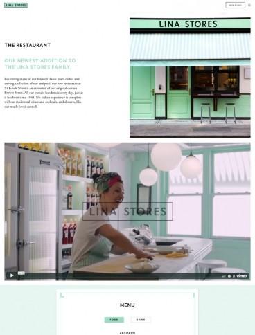 eCommerce website: Lina Stores