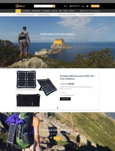 eCommerce website: Mobisun