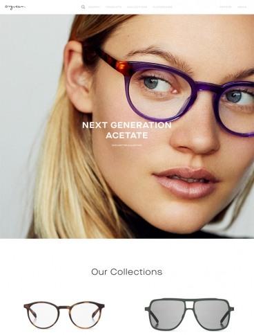 eCommerce website: Ørgreen Optics