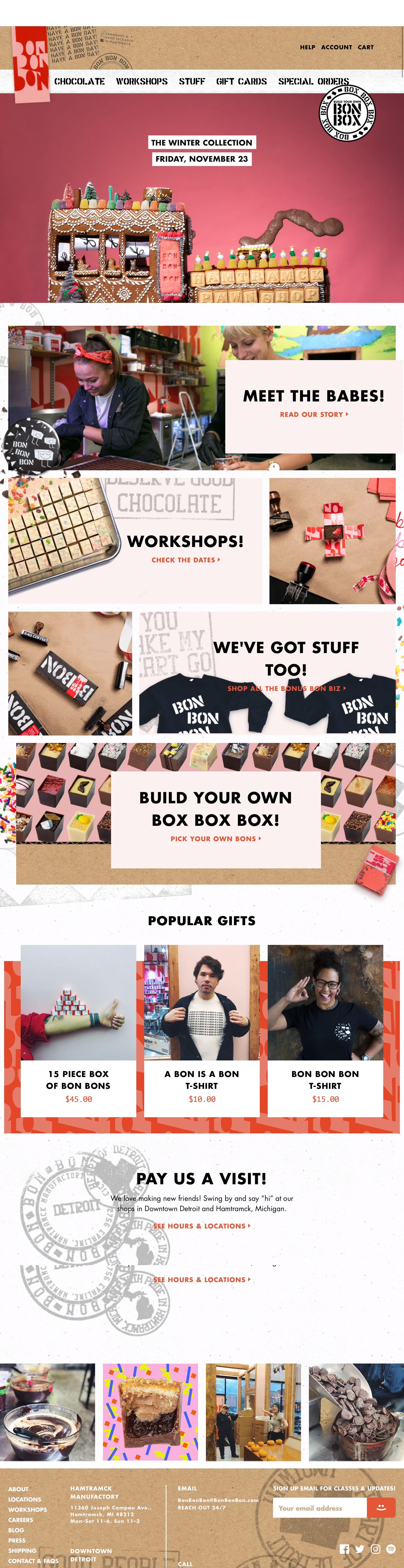 eCommerce website: Bon Bon Bon