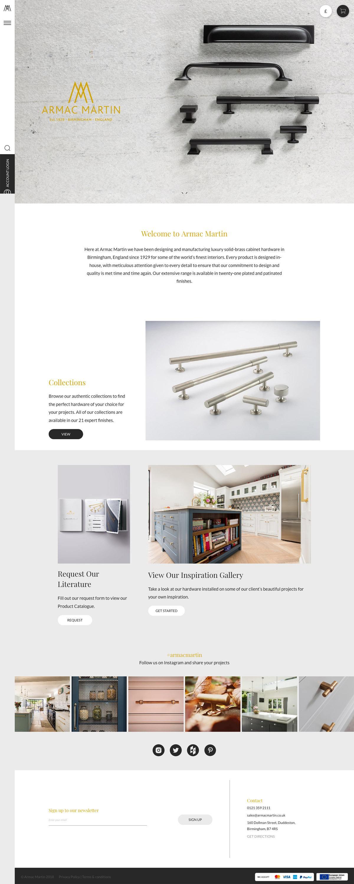 eCommerce website: Armac Martin