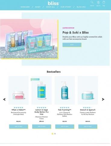 eCommerce website: Blissworld