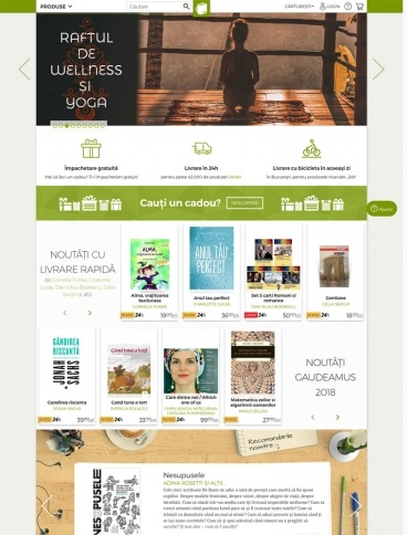 eCommerce website: Carturesti