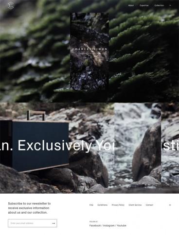 eCommerce website: Charles Simon