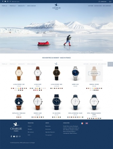 eCommerce website: Charlie Paris