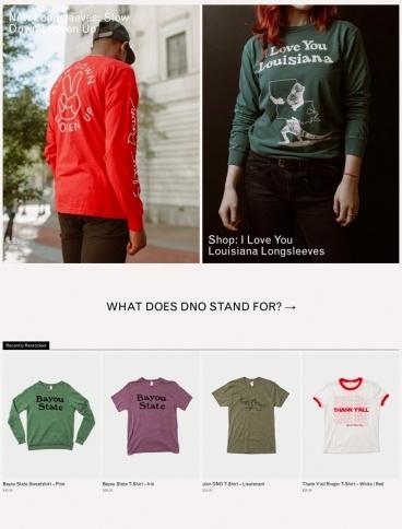 eCommerce website: DNO