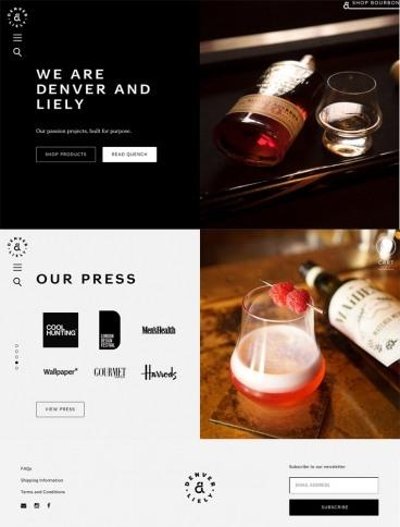 eCommerce website: Denver and Liely