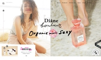 eCommerce website: Diane Bonheur