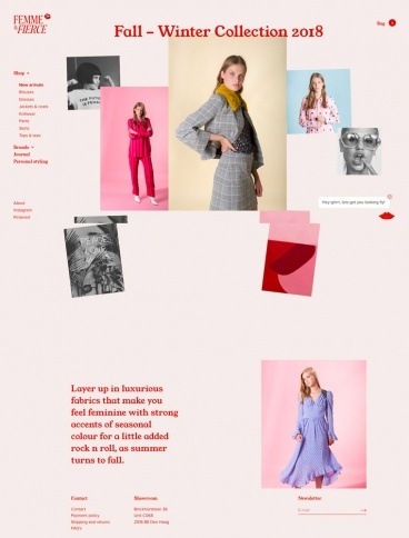 eCommerce website: Femme & Fierce