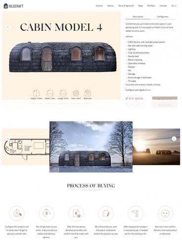 eCommerce website: Iglucraft