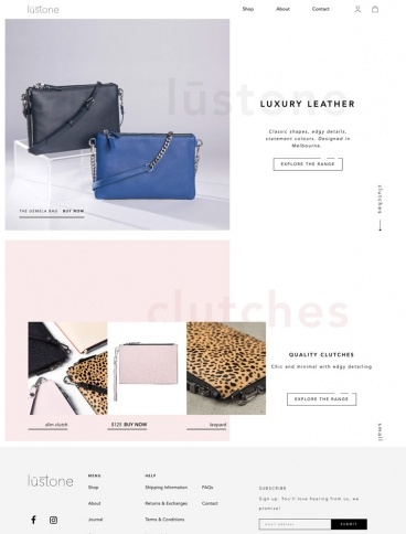 eCommerce website: Lustone
