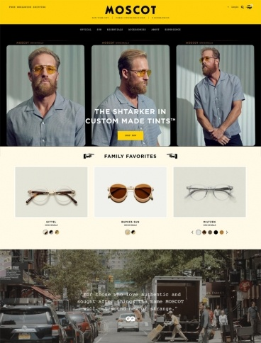 eCommerce website: MOSCOT