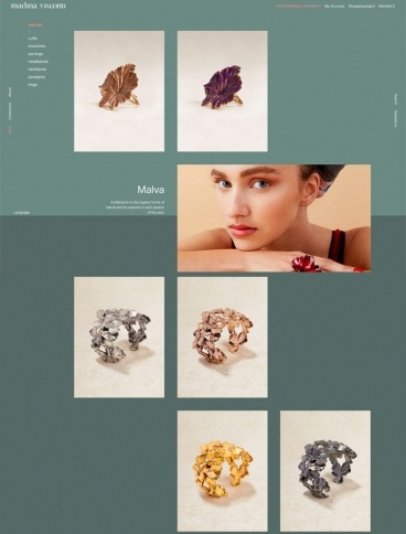 eCommerce website: Madina Visconti