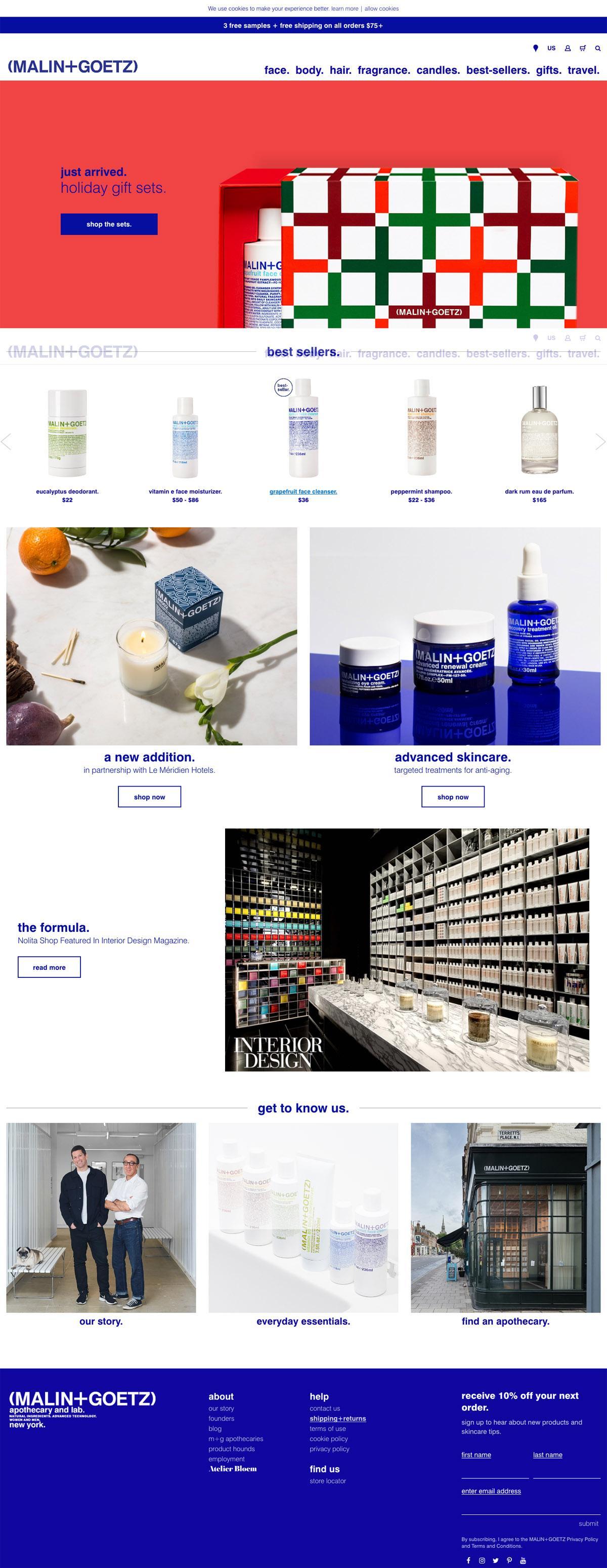 eCommerce website: Malin+Goetz