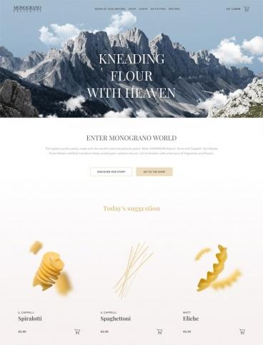 eCommerce website: Monograno Felicetti
