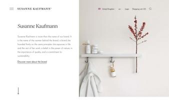 eCommerce website: Susanne Kaufmann