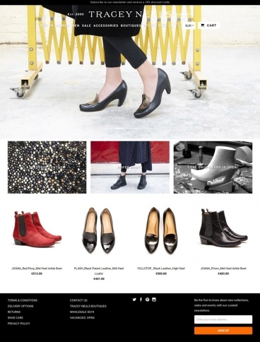 eCommerce website: Tracey Neuls