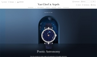 eCommerce website: Van Cleef & Arpels