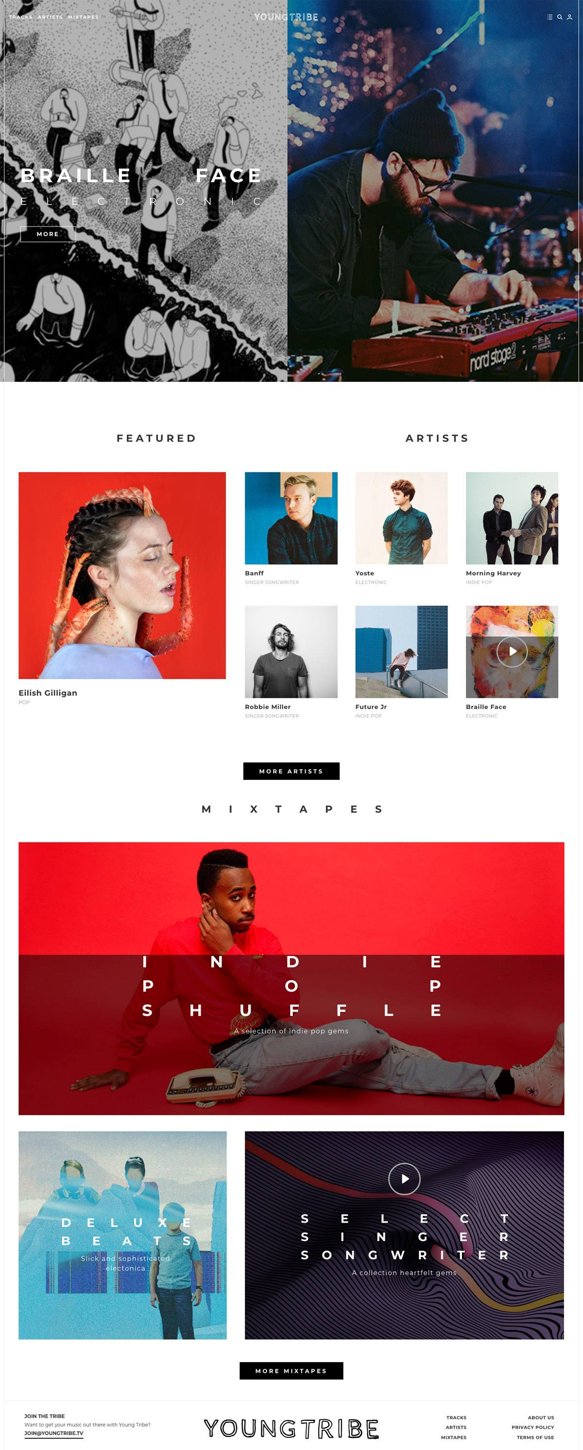 eCommerce website: Young Tribe