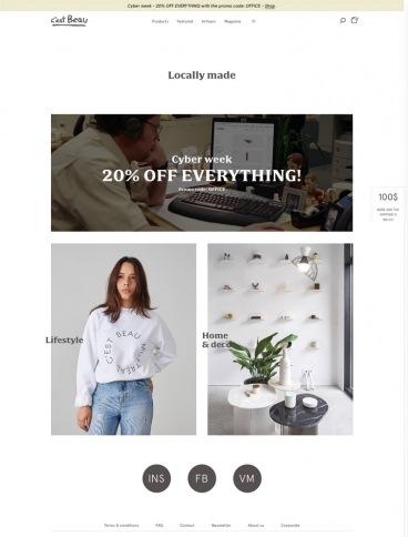 eCommerce website: C'est Beau