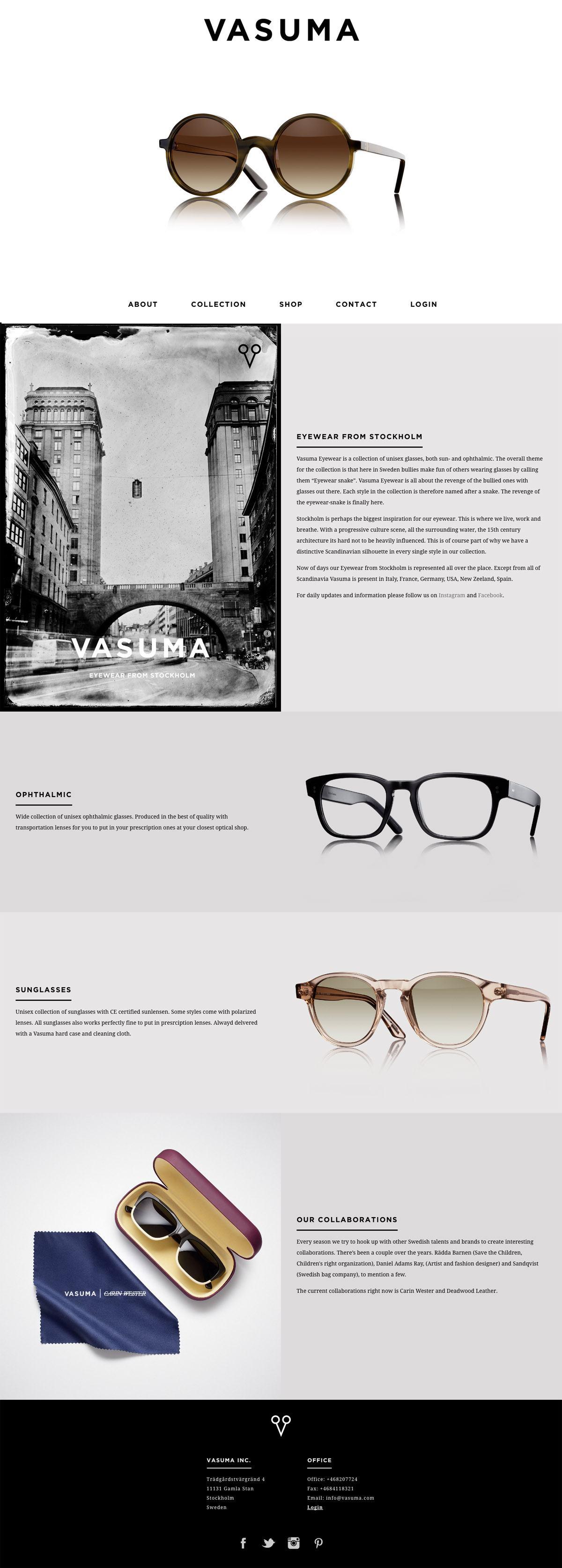 eCommerce website: Vasuma