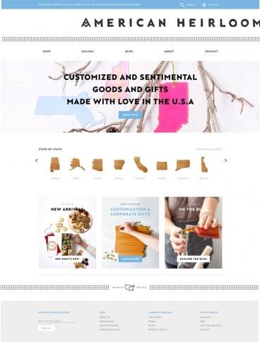 eCommerce website: American Heirloom