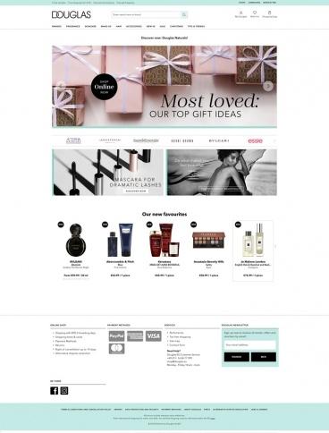 eCommerce website: Douglas