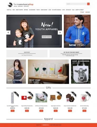 eCommerce website: Farm Sanctuary Shop