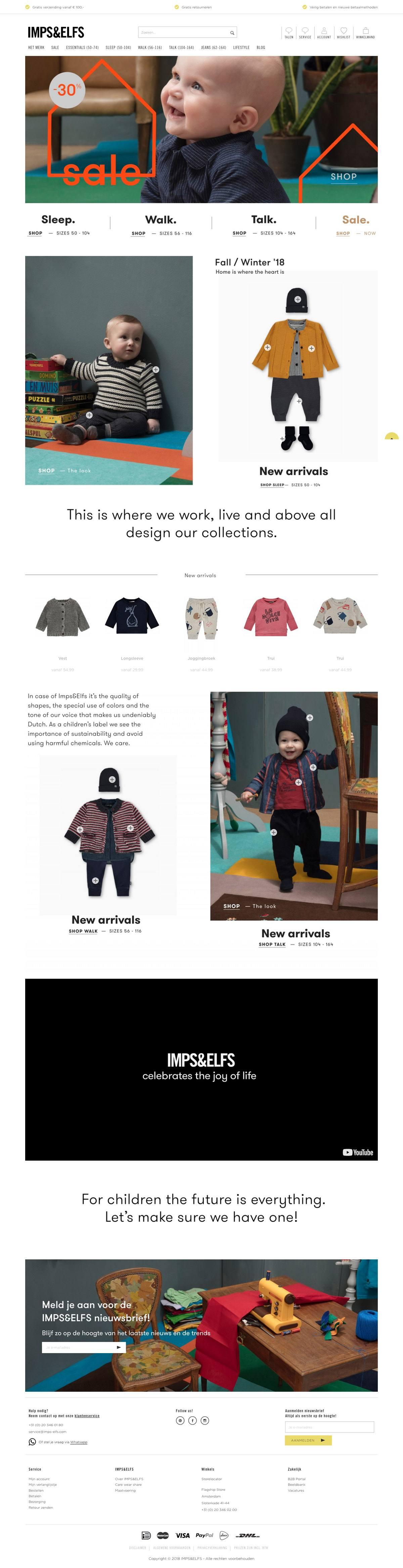 eCommerce website: Imps&Elfs