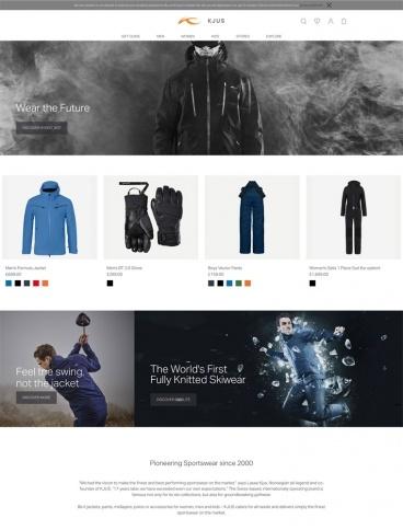 eCommerce website: KJUS