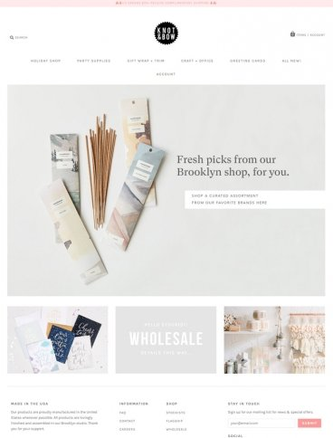 eCommerce website: Knot & Bow