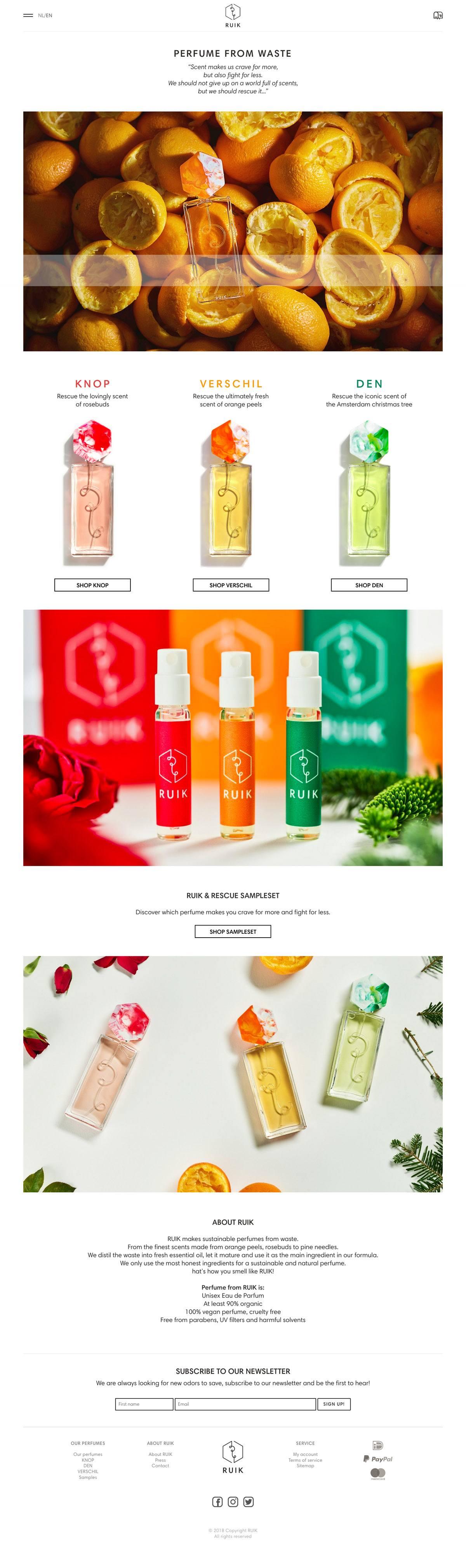 eCommerce website: RUIK