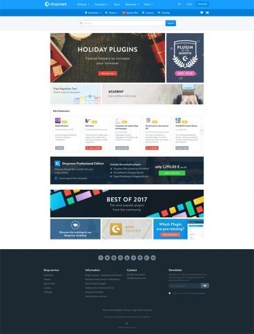 eCommerce website: Shopware Store