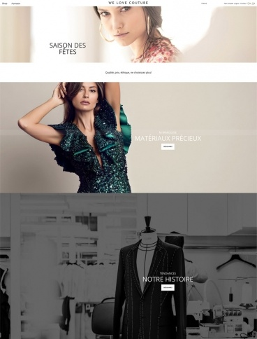 eCommerce website: We Love Couture