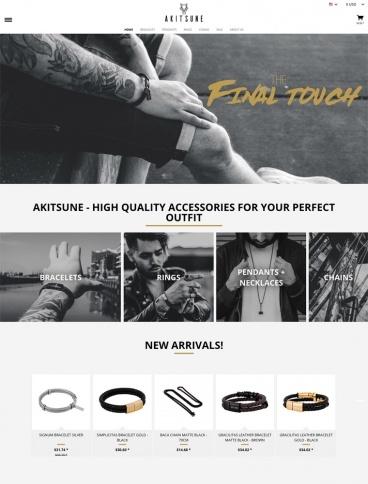 eCommerce website: Akitsune